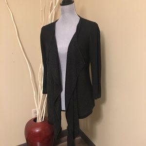 2/$20 New York & Co open front black cardigan M